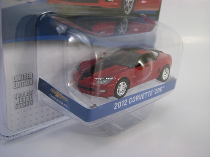 Chevrolet Corvette Z06 2012 Crystal Red GM Collection 1:64 Green