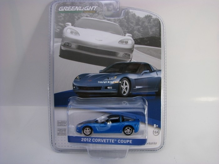 Chevrolet Corvette Coupe 2012 Supersonic Blue GM Collection 1:64 Greenlight