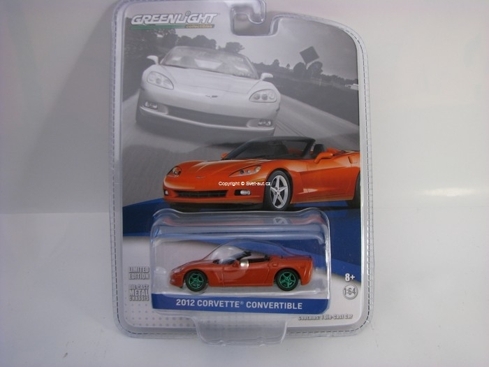 Chevrolet Corvette Convertible 2012 Inferno Orange GM Collection 1:64 Greenlight