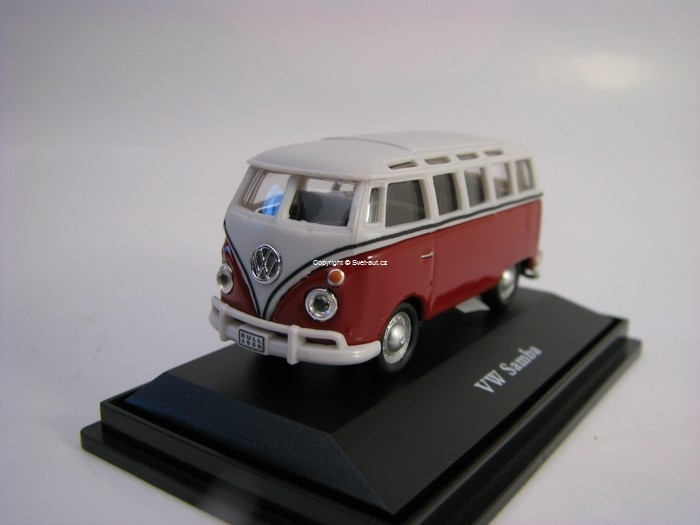 Volkswagen Bus Samba red white 1:72 Cararama