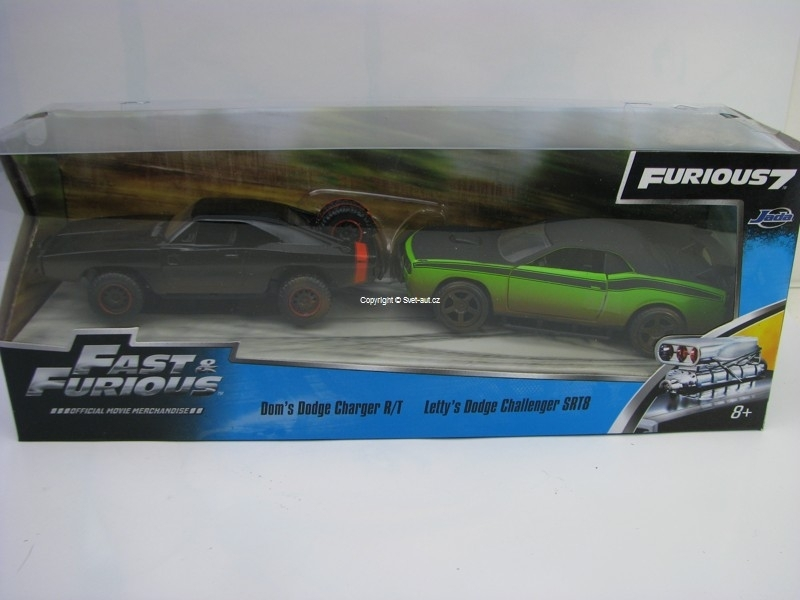Dodge Charger R/T a Dodge Challenger Fast and Furious 1:32 Jada Toys