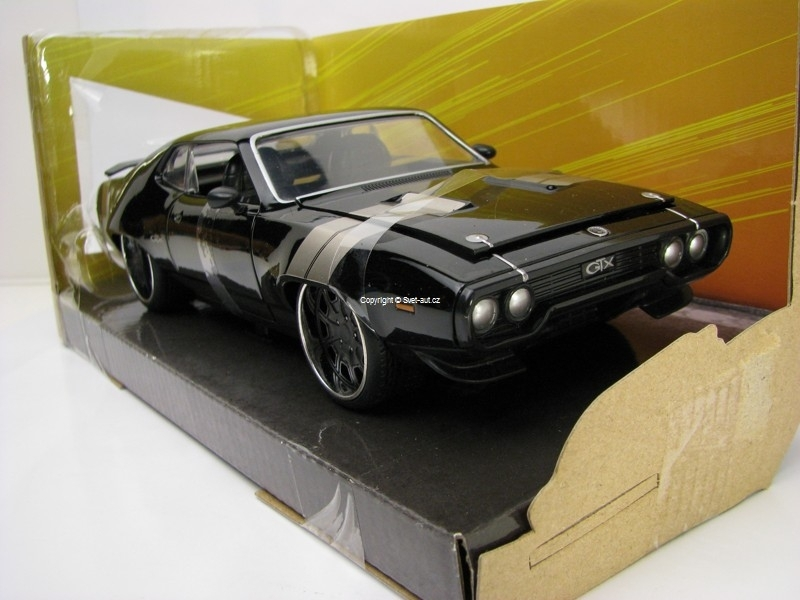 Dom's Plymouth GTX Fast and Furious 8 1:24 Jada Toys