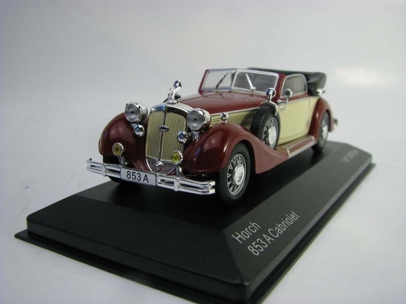 Horch 853A Cabriolet Red/Beige 1:43 White Box