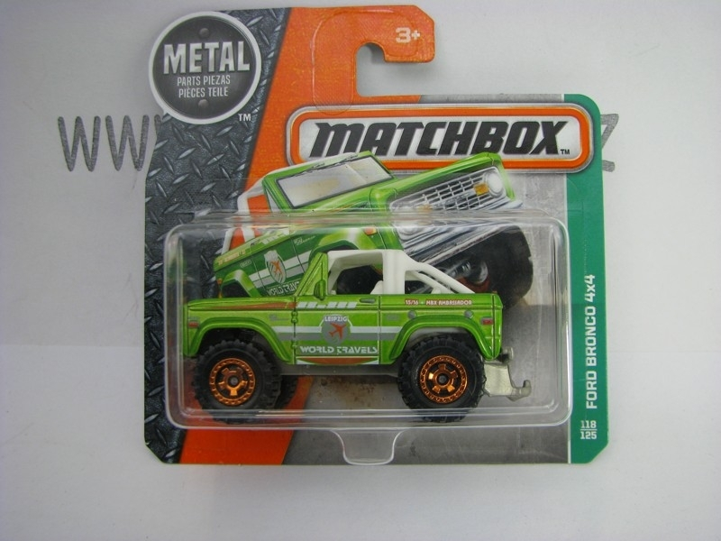 Matchbox - 2016 Explorers 118/125 Ford Bronco 4X4