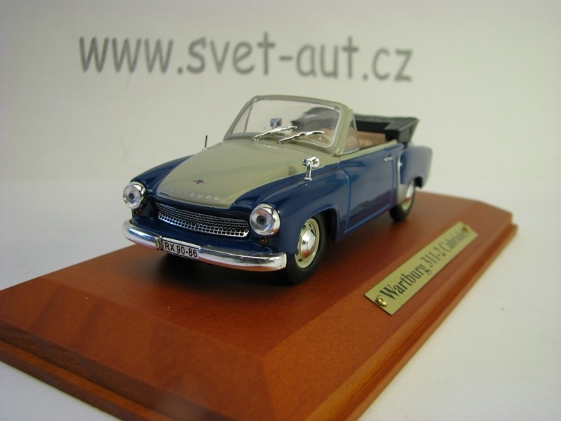 Wartburg 311-2 Cabriolet Blue 1:43 Atlas Edition