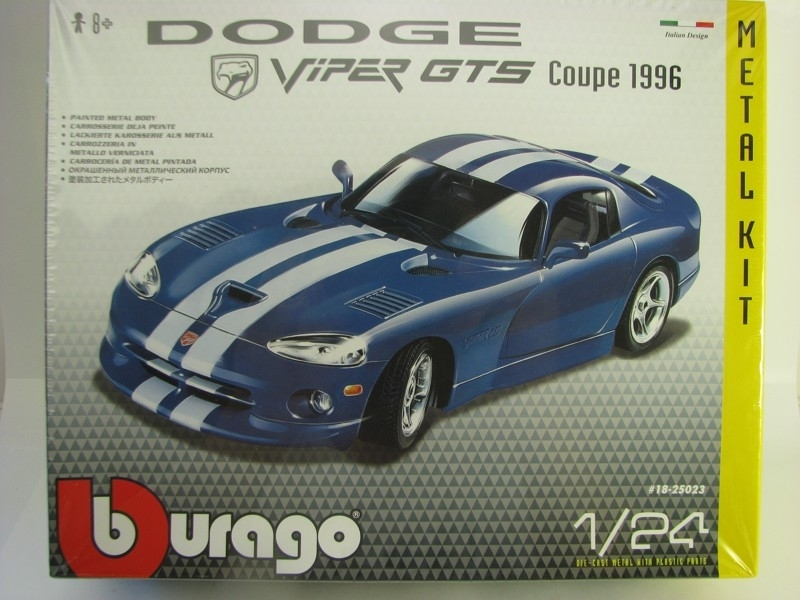 Dodge Viper GTS Coupe 1996 Blue 1:24 KIT Bburago New