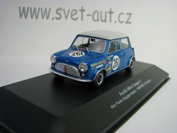 Austin Mini Cooper S No.261 Alec Poole 1969 BTCC Champion 1:43 Atlas