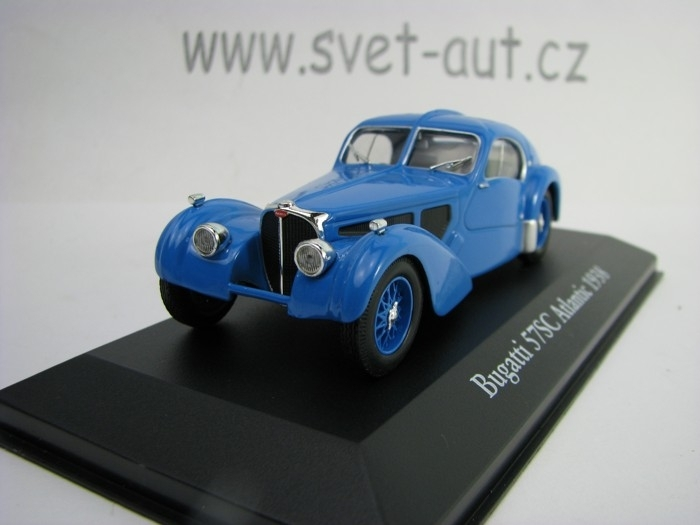 Bugatti 57SC Atlantic 1938 Blue 1:43 Atlas Edition