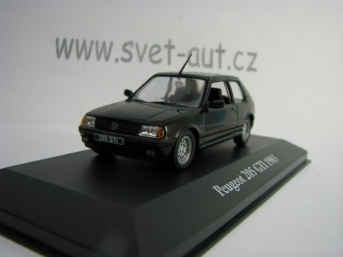 Peugeot 205 GTI 1985 Black 1:43 Atlas Edition