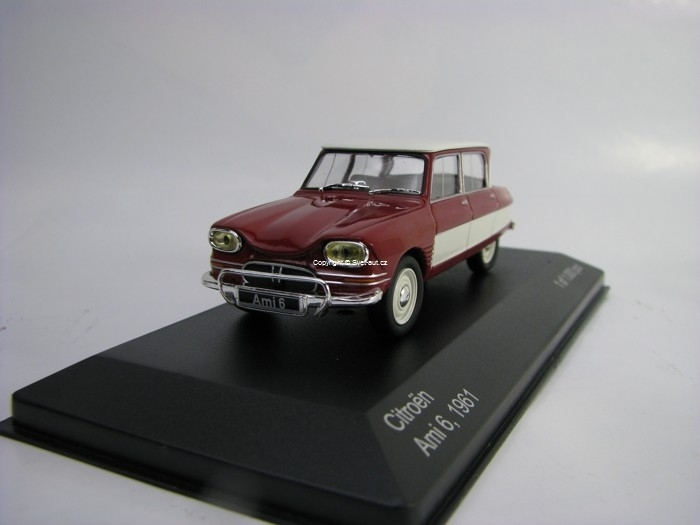 Citroen Ami 6 Red White 1:43 White Box