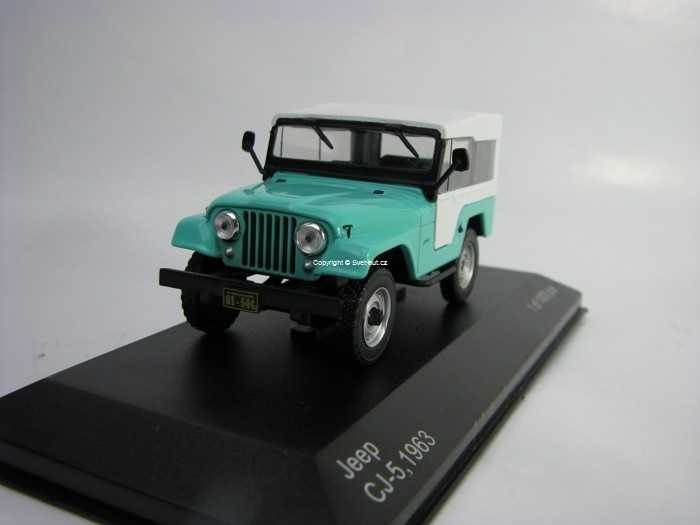 Jeep CJ-5 1963 Green White 1:43 White Box