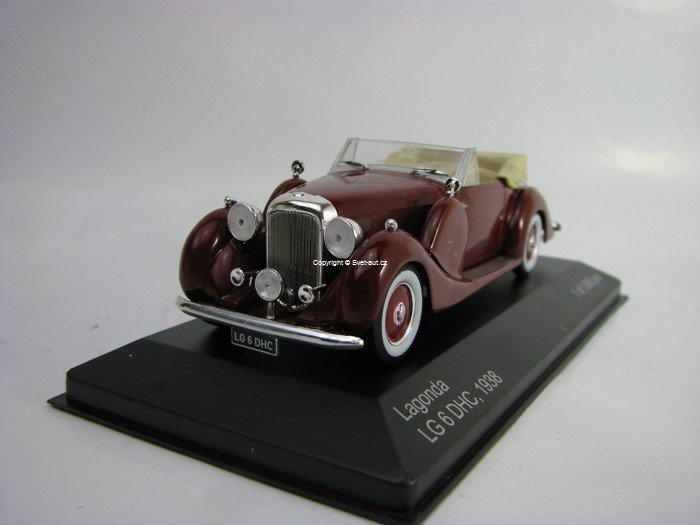 Lagonda LG 6 DHC 1938 Red 1:43 White Box