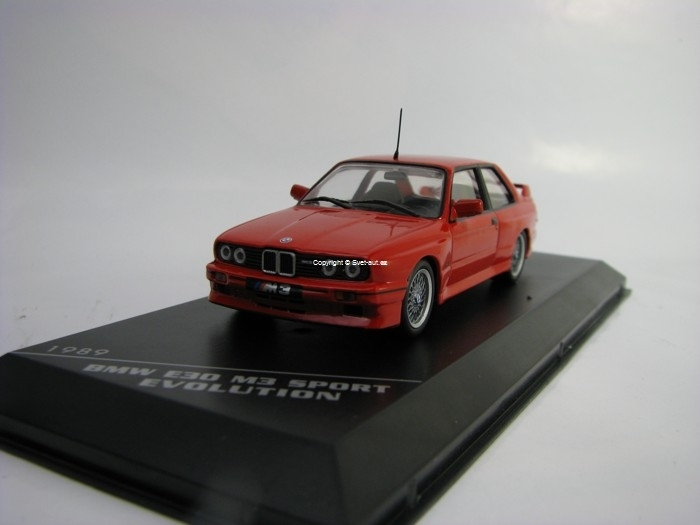 BMW E30 M3 Sport Evolution 1989 Red 1:43 White Box