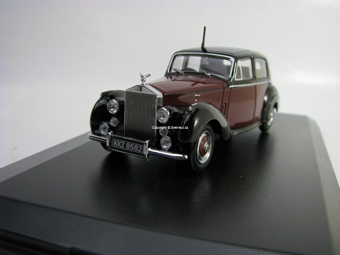 Rolls Royce Silver Dawn Maroon Black 1:43 Oxford