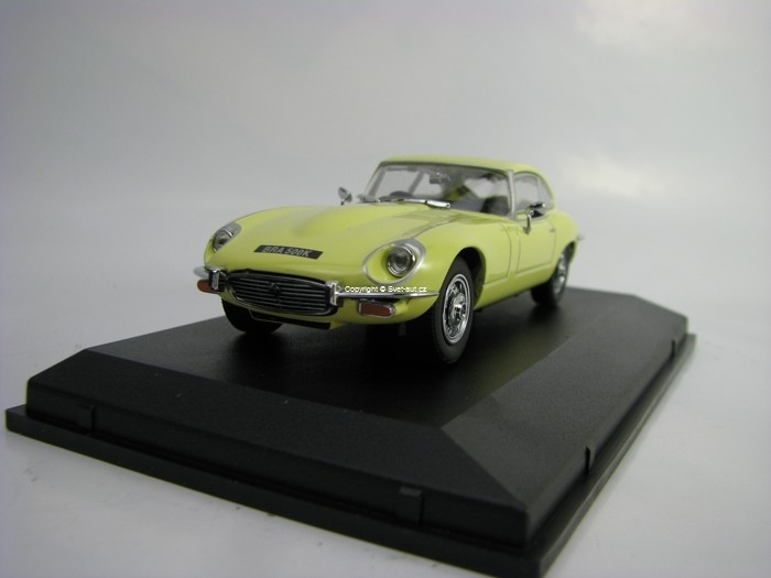 Jaguar V12 E Type Coupe Primose Yellow 1:43 Oxford