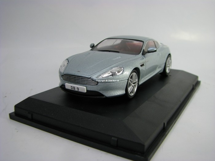 Aston Martin DB9 Coupe Light Blue Metallic 1:43 Oxford