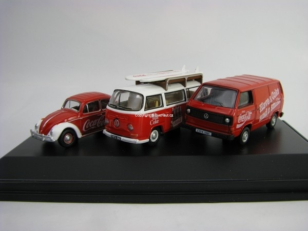 Volkswagen set 3 modely Coca-Cola 1:76 Oxford