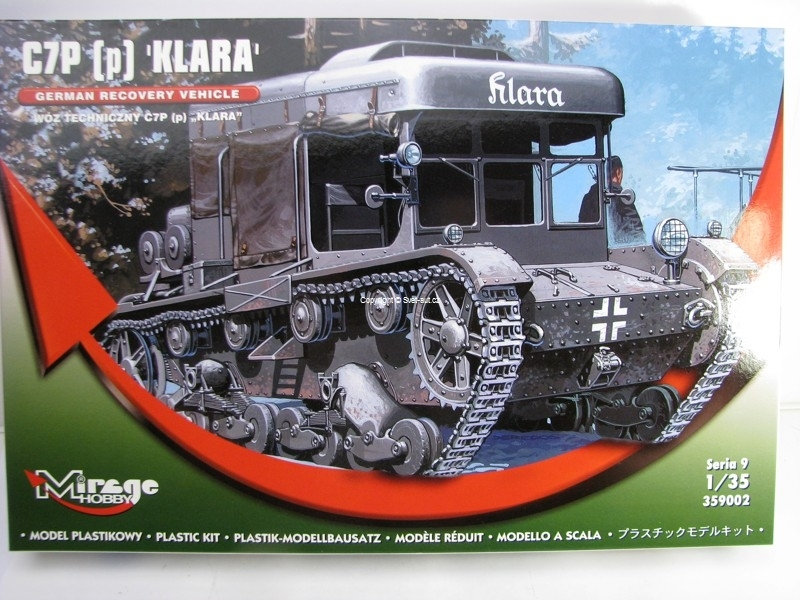German Recovery Vehicle C7P Klara 1:35 Mirage Hobby