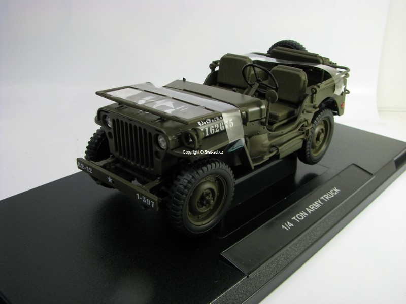Jeep Willys US Army 1/4 Ton 1944 1:18 Welly