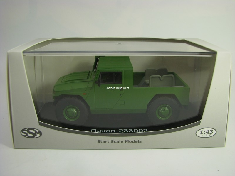 Gaz 233002 Tiger Pick Up Mato Green 1:43 Start Scale Models