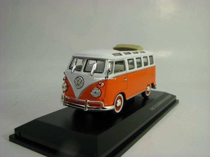 Volkswagen T1 Samba Microbus 1962 Orange 1:43 Lucky Die Cast