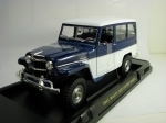 Jeep Willys Station Wagon 1955 Blue/White 1:18 Lucky Die Cast