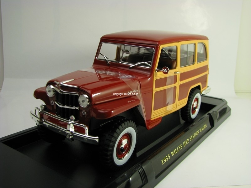 Jeep Willys Station Wagon 1955 Red 1:18 Lucky Die Cast