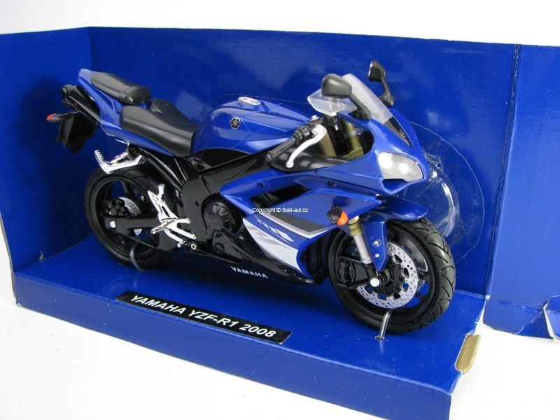 Yamaha YZF-R1 2008 Blue 1:12 New Ray
