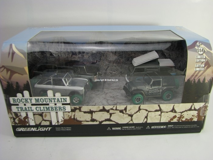Diorama Rocky Mountain 4 modely 1:64 Greenlight