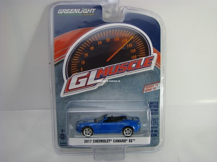 Chevrolet Camaro SS 2017 Blue 1:64 Greenlight GL Muscle Serie 18