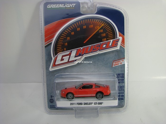 Ford Shelby GT-500 2011 Red 1:64 Greenlight GL Muscle Serie 18