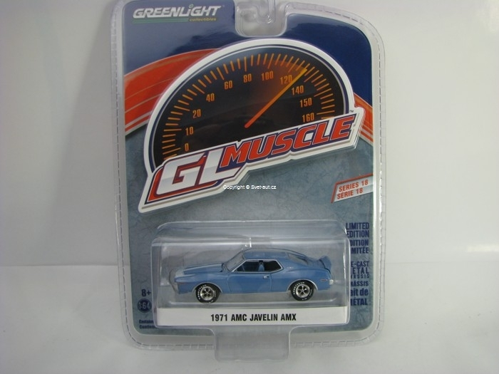 AMC Javelin AMX 1971 Blue 1:64 Greenlight GL Muscle Serie 18