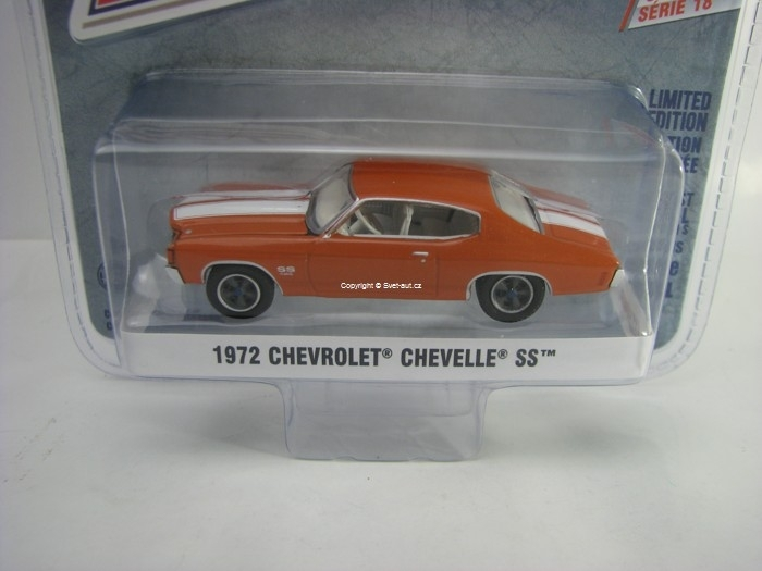 Chevrolet Chevelle SS 1972 Red 1:64 Greenlight GL Muscle Serie 1