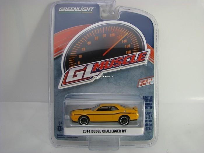 Dodge Challenger R/T 2014 Yellow 1:64 Greenlight GL Muscle Serie 18