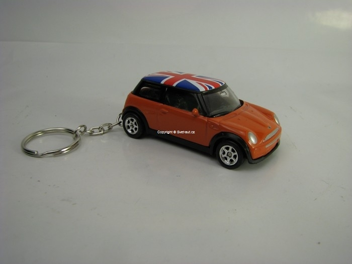 Přívěsek Mini Cooper Orange 1:60 Welly