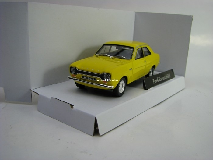 Ford Escort MKI Yellow 1:43 Cararama