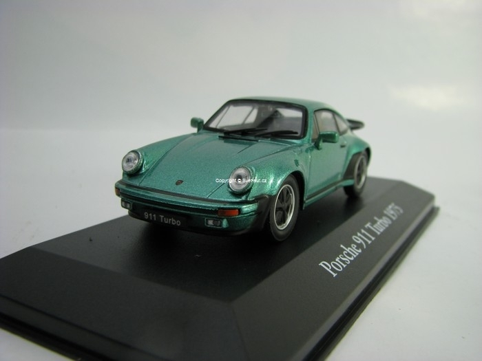 Porsche 911 Turbo Green Metallic 1975 1:43 Atlas Edition