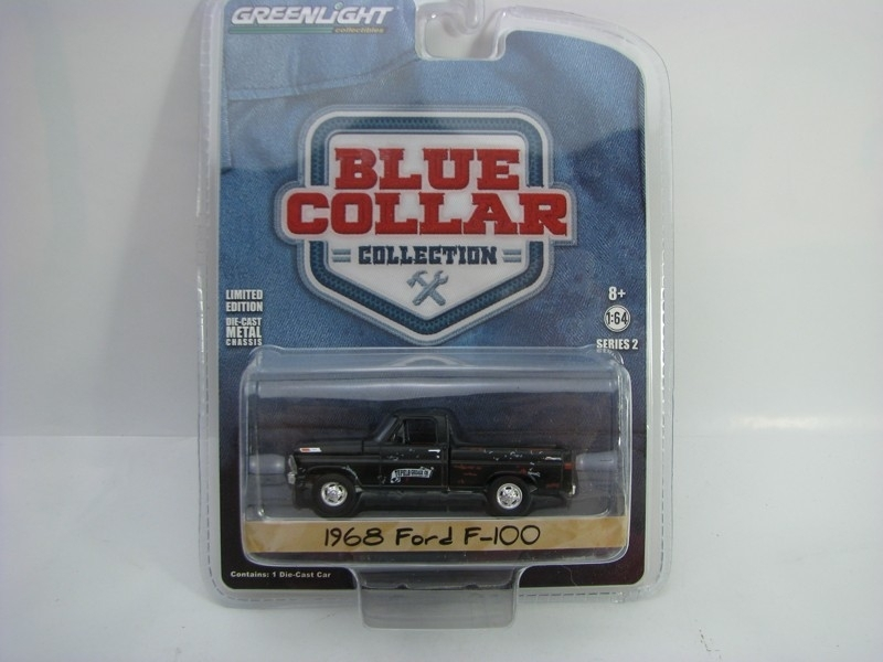 Ford F-100 1968 1:64 Blue Collar Greenlight