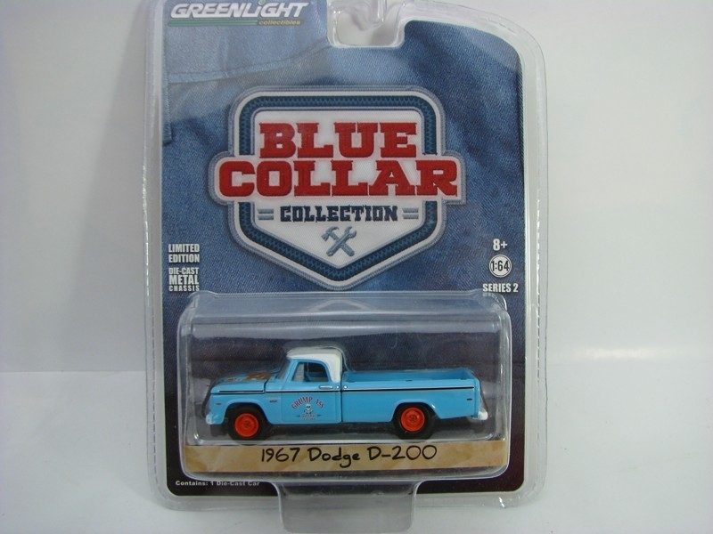 Dodge D-200 1967 1:64 Blue Collar Greenlight