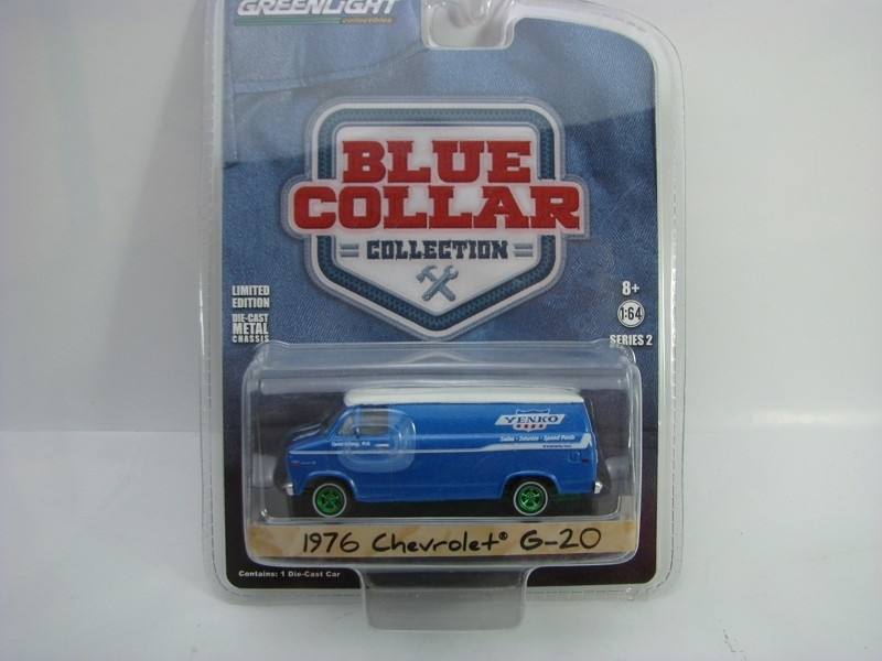 Chevrolet G-20 1976 1:64 Blue Collar Greenlight