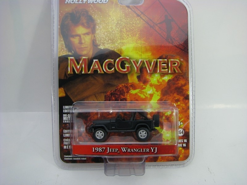 Jeep Wrangler YJ 1987 MacGyver 1:64 Hollywood Greenlight
