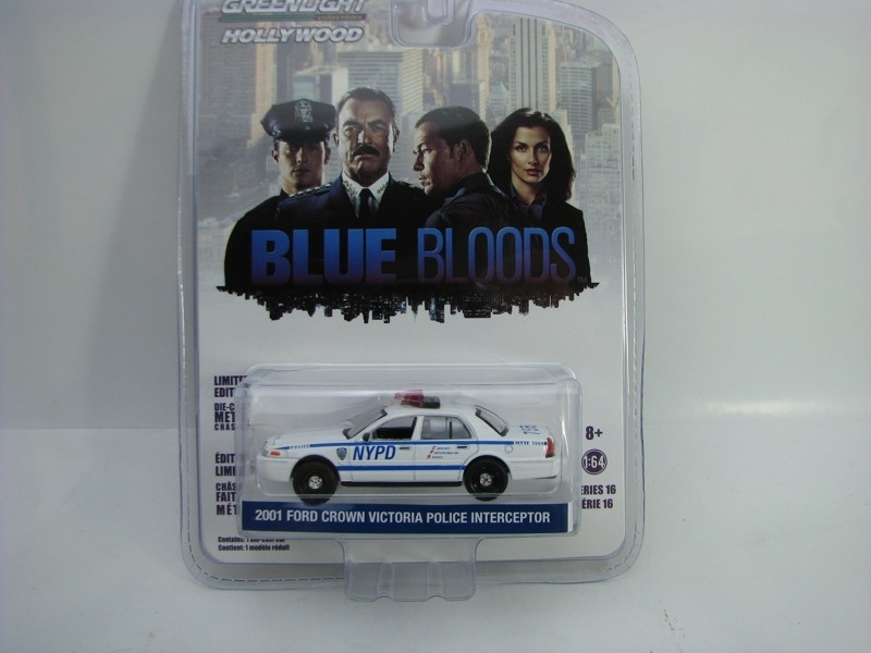 Ford Crown Victoria NYPD 2001 Blue Bloods 1:64 Hollywood Greenlight