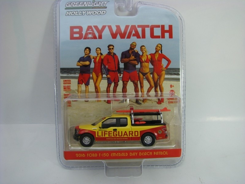 Ford F-150 2016 Beach Patrol Baywatch 1:64 Hollywood Greenlight