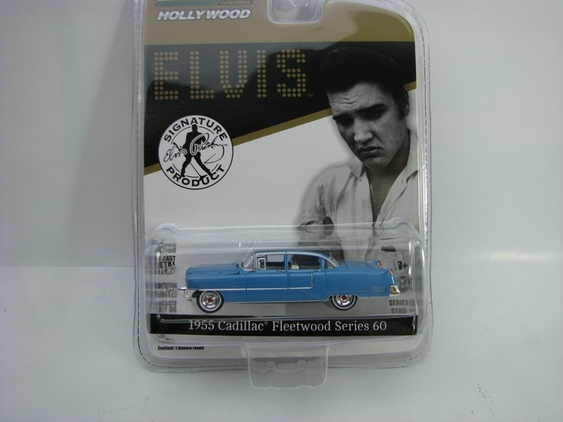 Cadillac Fleetwood series 60 1955 Elvis Blue 1:64 Hollywood Greenlight