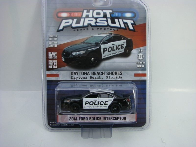 Ford Police Interceptor 2014 Daytona 1:64 Hot Pursuit série 22 Greenlight