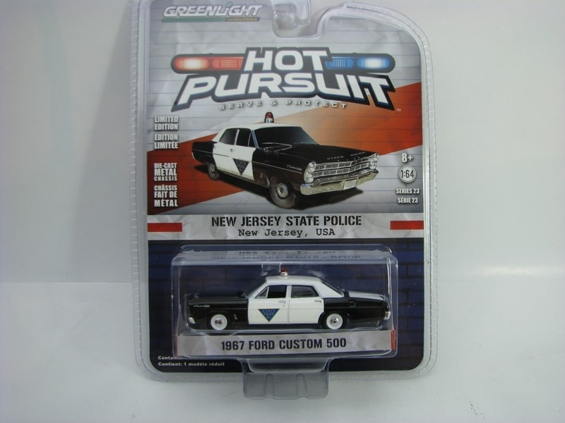 Ford Custom 500 Police New Jersey 1967 1:64 Hot Pursuit série 23 Greenlight