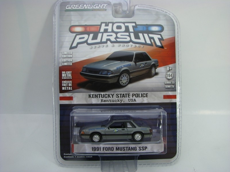 Ford Mustang SSP 1991 Kentucky 1:64 Hot Pursuit série 23 Greenlight