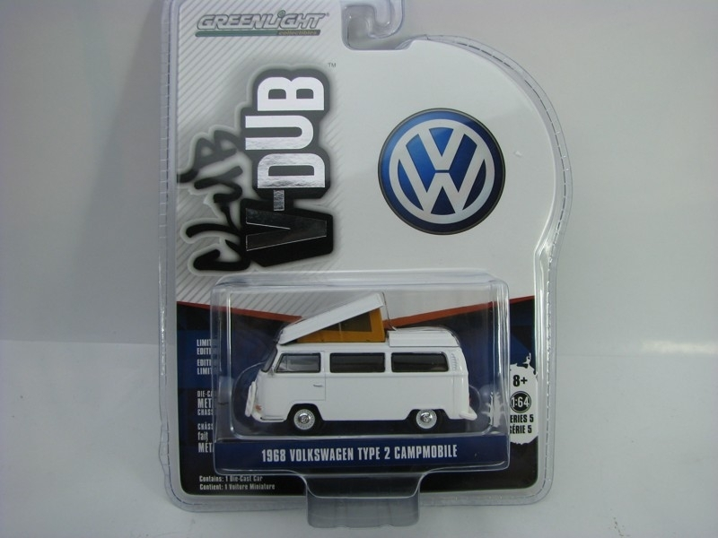 Volkswagen Type 2 Campmobile 1968 1:64 Club V-Dub série 5 Greenlight