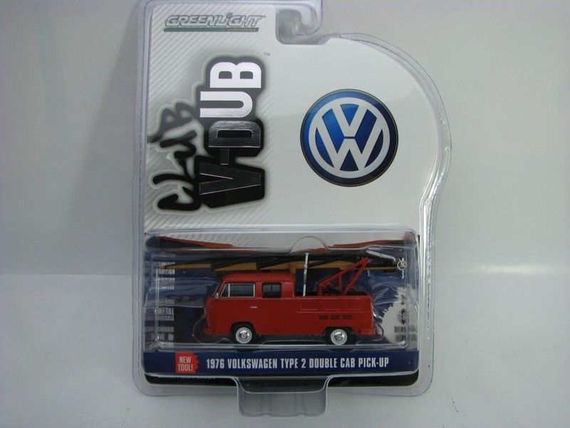 Volkswagen Type 2 Double Cab Pick Up 1976 1:64 Club V-Dub série 5 Greenlight