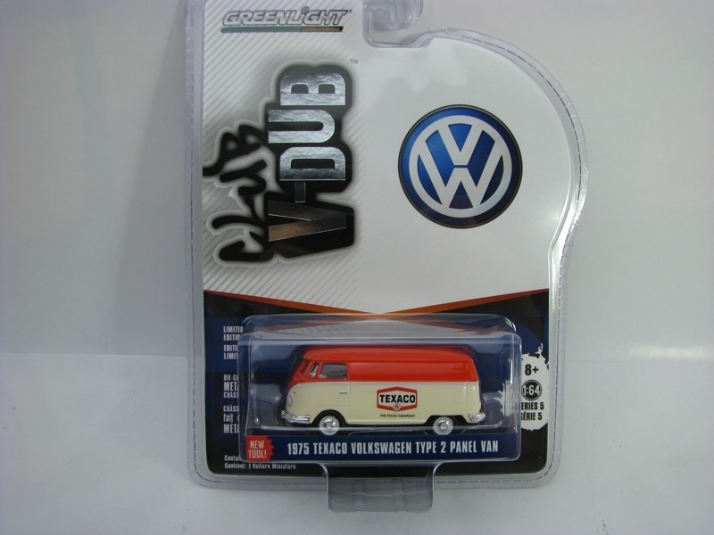 Volkswagen Type 2 Panel Van Texaco 1975 1:64 Club V-Dub série 5 Greenlight